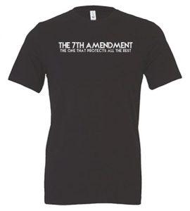 7th Amendment T-Shirt Gray Front